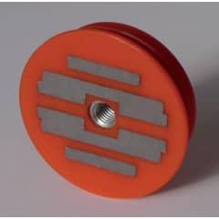 Aimant Resine D64 1200N Rouge photo du produit