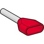 Embout D moyen 1mm2 rouge NF photo du produit