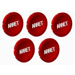 lot de 5 pastille rouge arret photo du produit