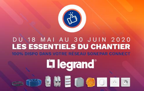 Banner présentation Legrand - Les essentiels du chantier