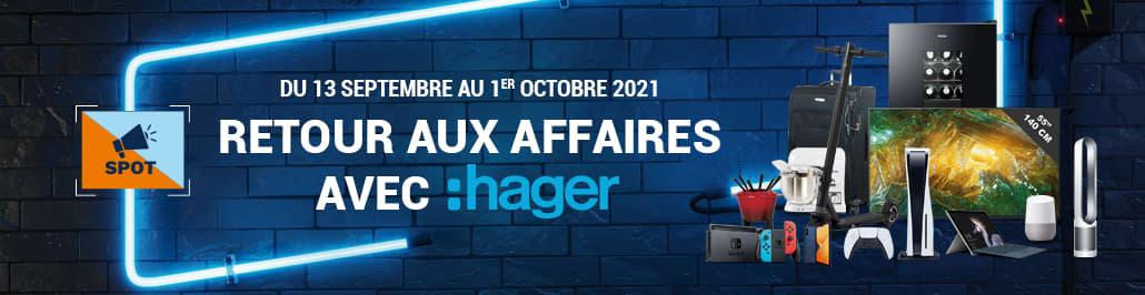 Promo Hager - Retour aux affaires