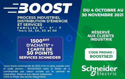 bannière Schneider Electric promotion Boost Industrie Octobre 2021