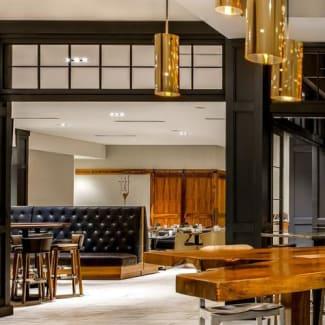 Charlotte Executive Park lobby lounge table