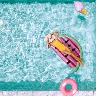 watermelon float - summer