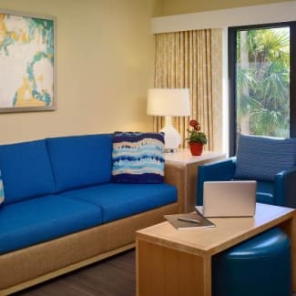 Sonesta ES Suites Orlando Trio Two Bedroom Suite Livingroom