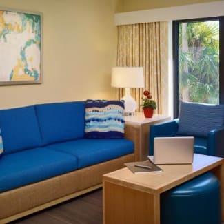 Sonesta ES Suites Orlando Trio Two Bedroom Suite Livingroom