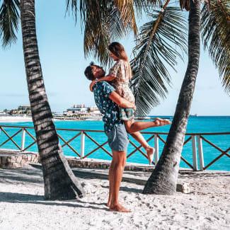 couples escape to sint maarten