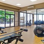 Fitness center with ellipticals