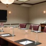Small Conference Room with Buffet Table