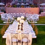 Courtyard Ceremony Banquet Setting