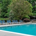 Charlotte Hotel Outdoor Pool and Chairs