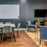 Hotel Business Center Collaboration Space