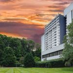 Charlotte Hotel Exterior Sunset and Landscaping