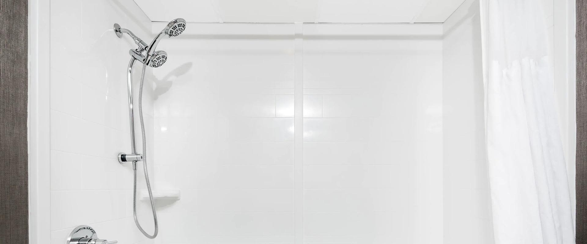 White tub and shower