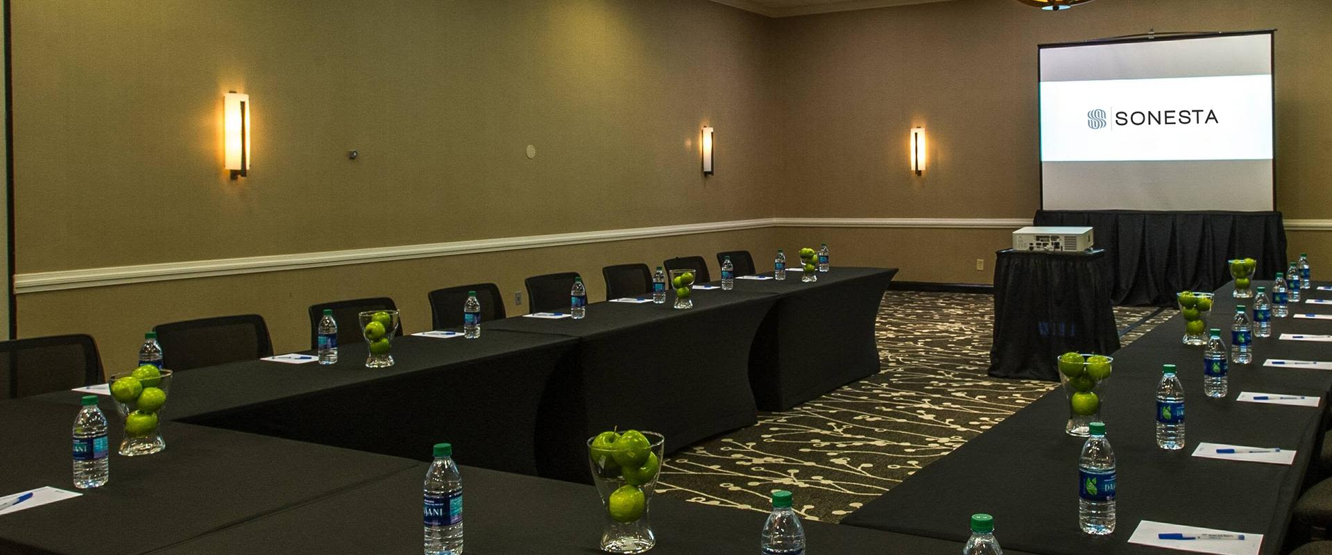 Tables set up for Meetings