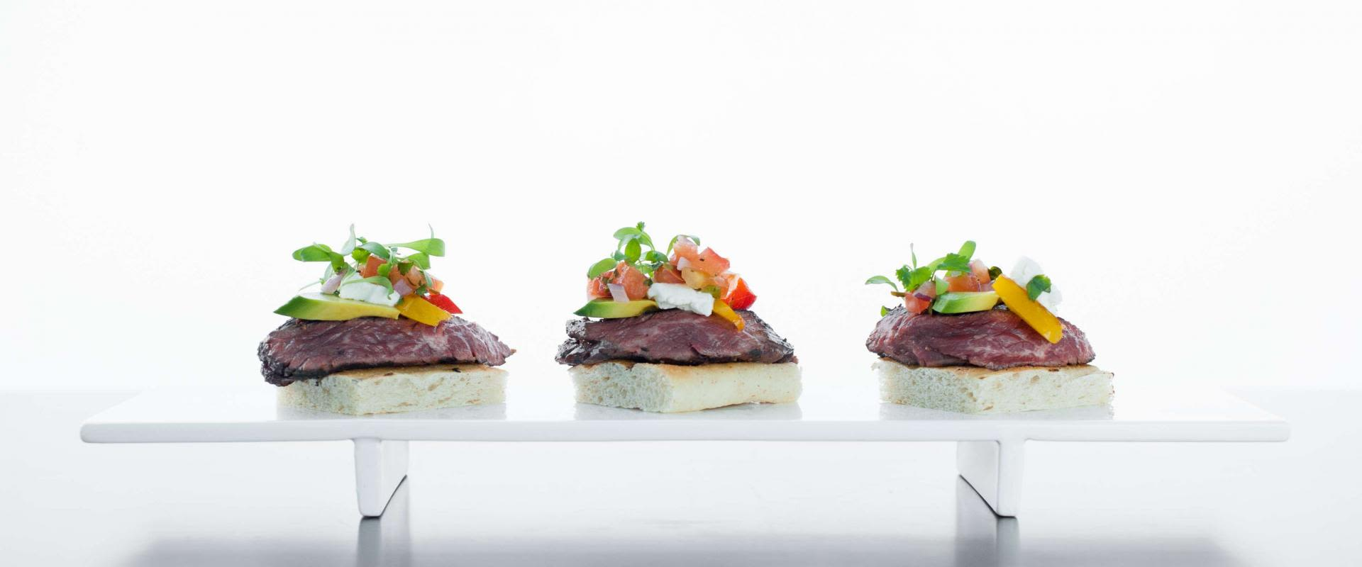 ARA 44 Farms Skirt Steak Crostini