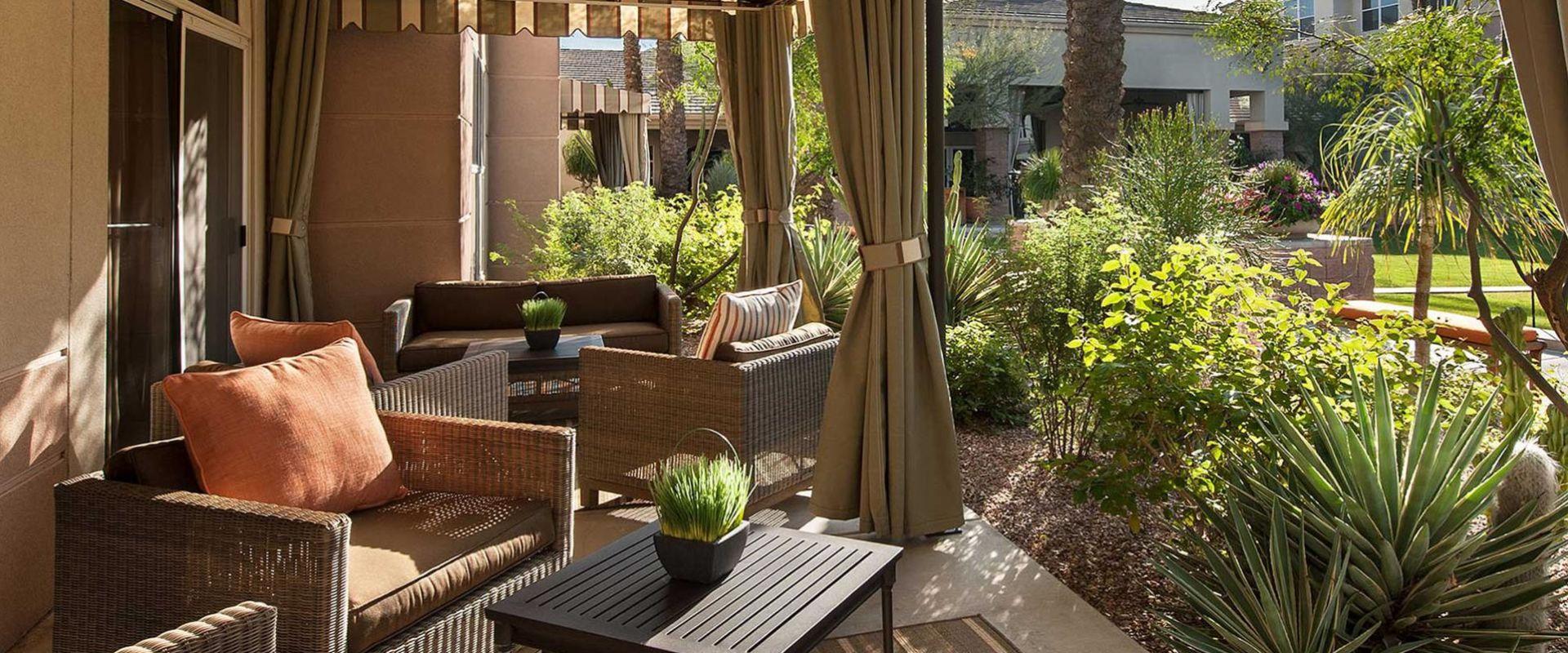 Cabana Patio Desert Garden Courtyard