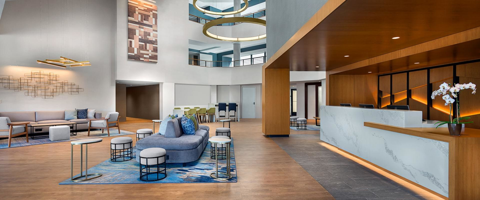 Warm and welcoming communal spaces