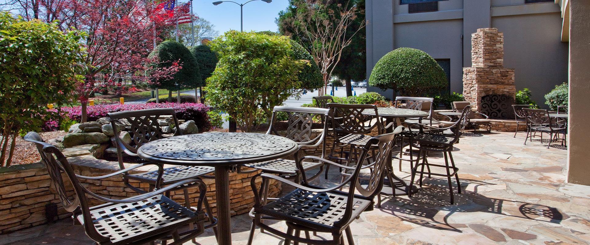 Atlanta Airport Hotel Patio Hightop Tables