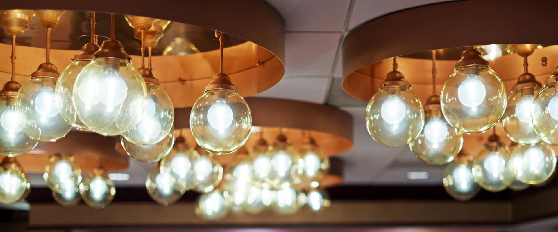 Atlanta Hotel Closeup of Restaurant Lighting
