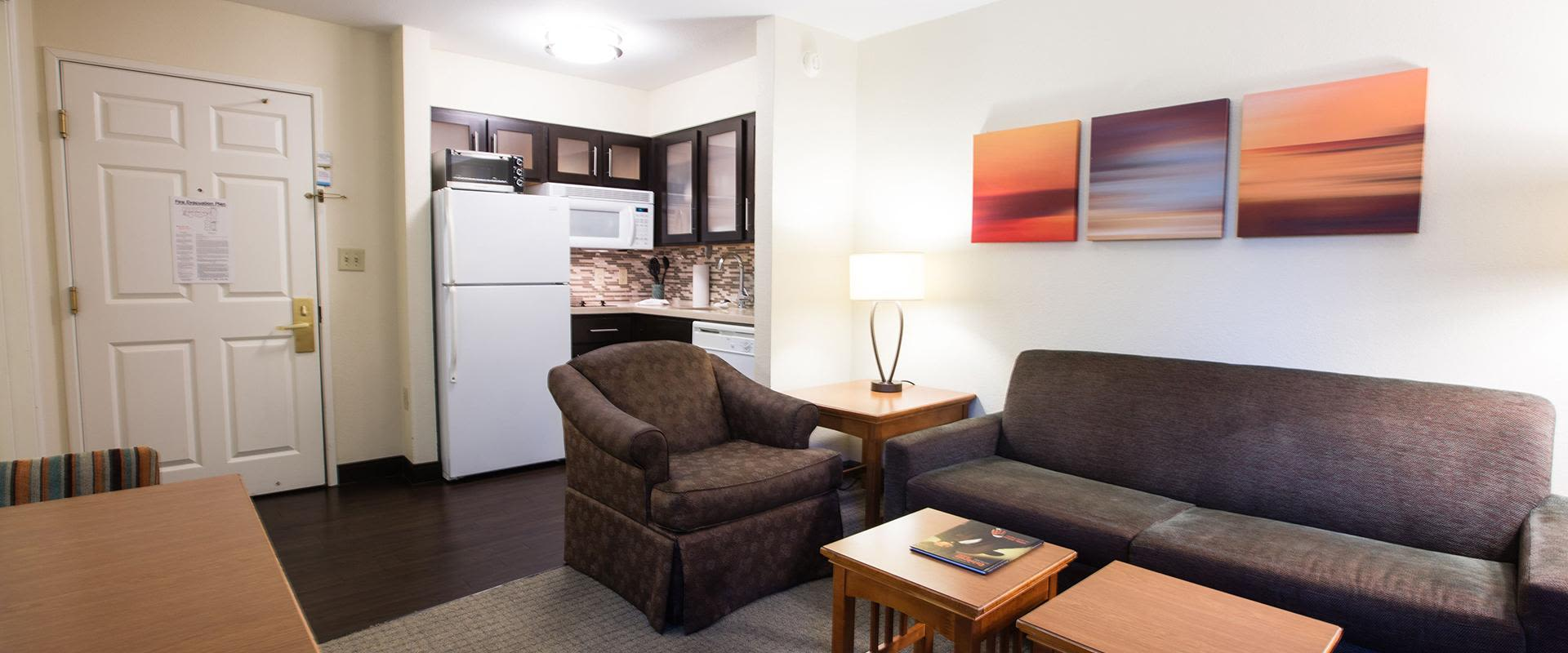 Two Bedroom Living Area and Kitchen