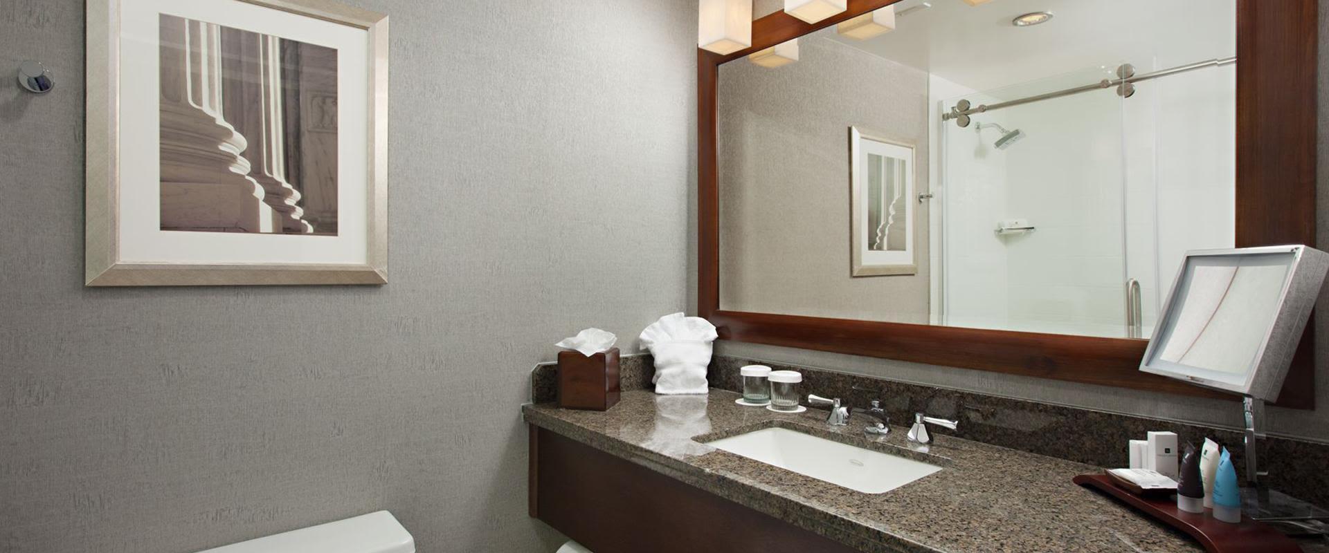 Charlotte Hotel Guest Bathroom Vanity