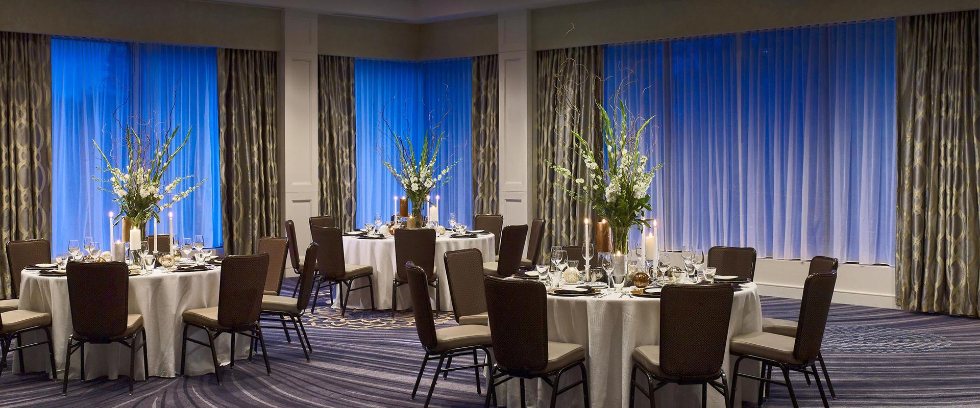 Charlotte Hotel Ballroom Venue Circular Tables