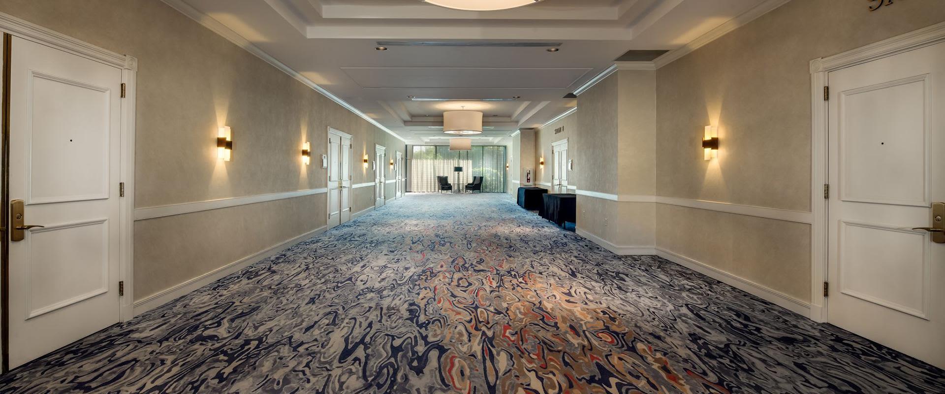 Charlotte Hotel Empty Hallway Gathering Space