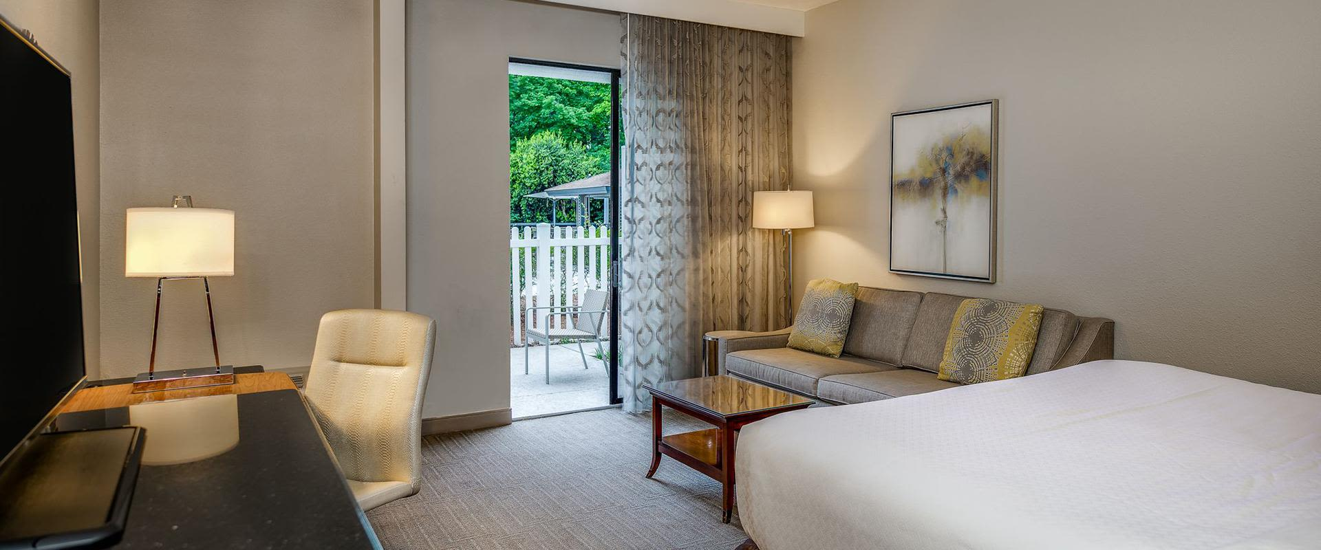 Charlotte Hotel Guest Room Sitting Area