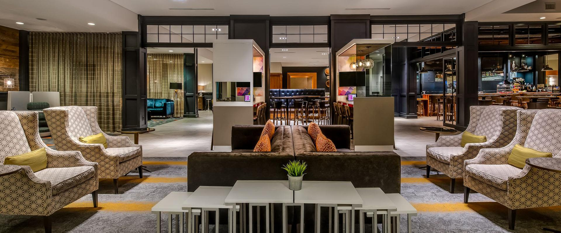 Charlotte Hotel Lobby Lounge Seating Area
