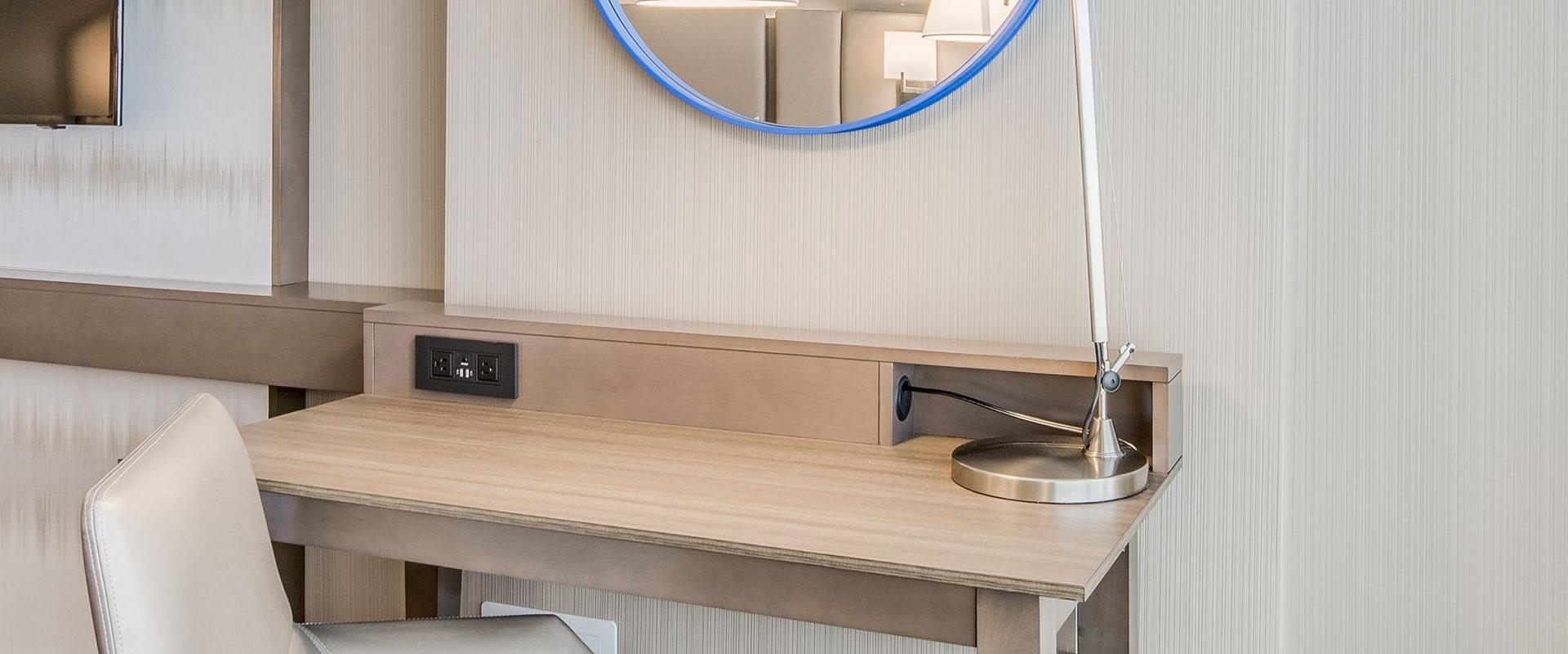 Denver Guest Room Desk With Outlets