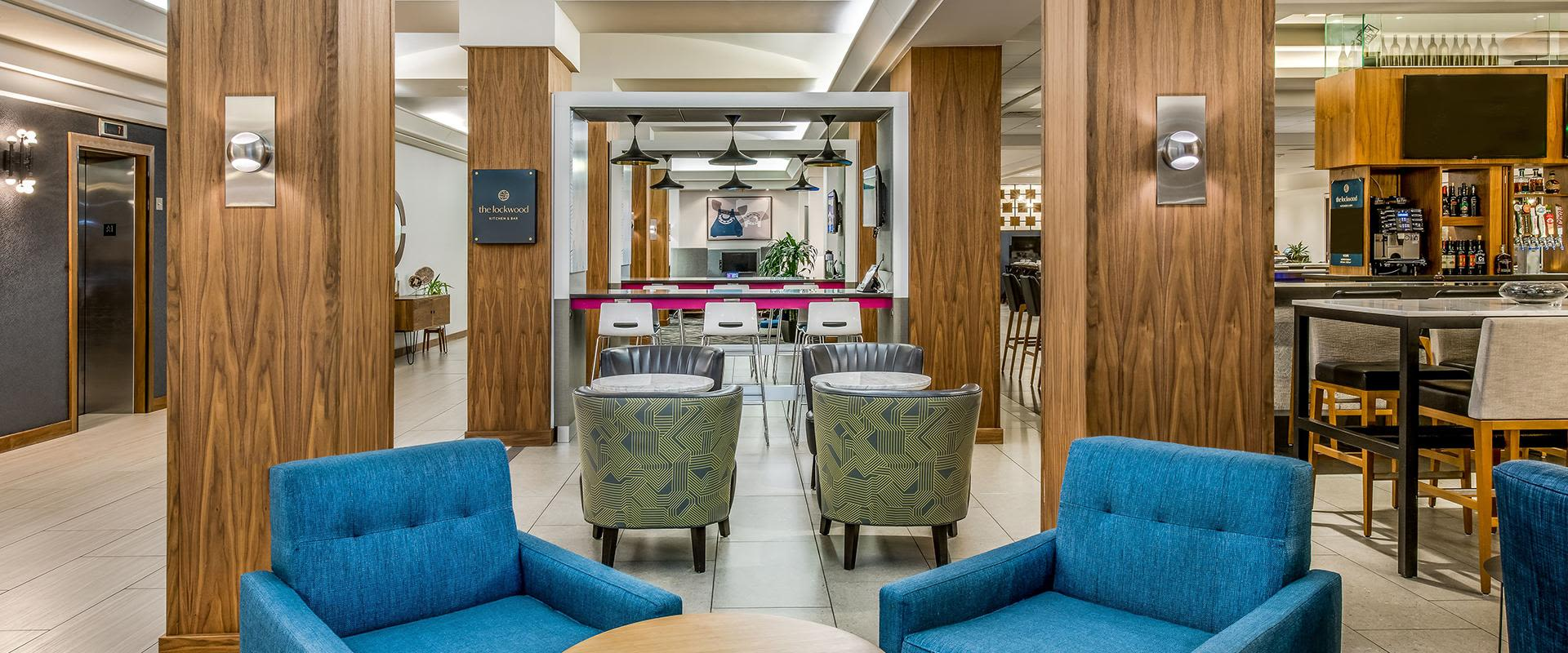 Denver Lounge And Work Area Near Bar