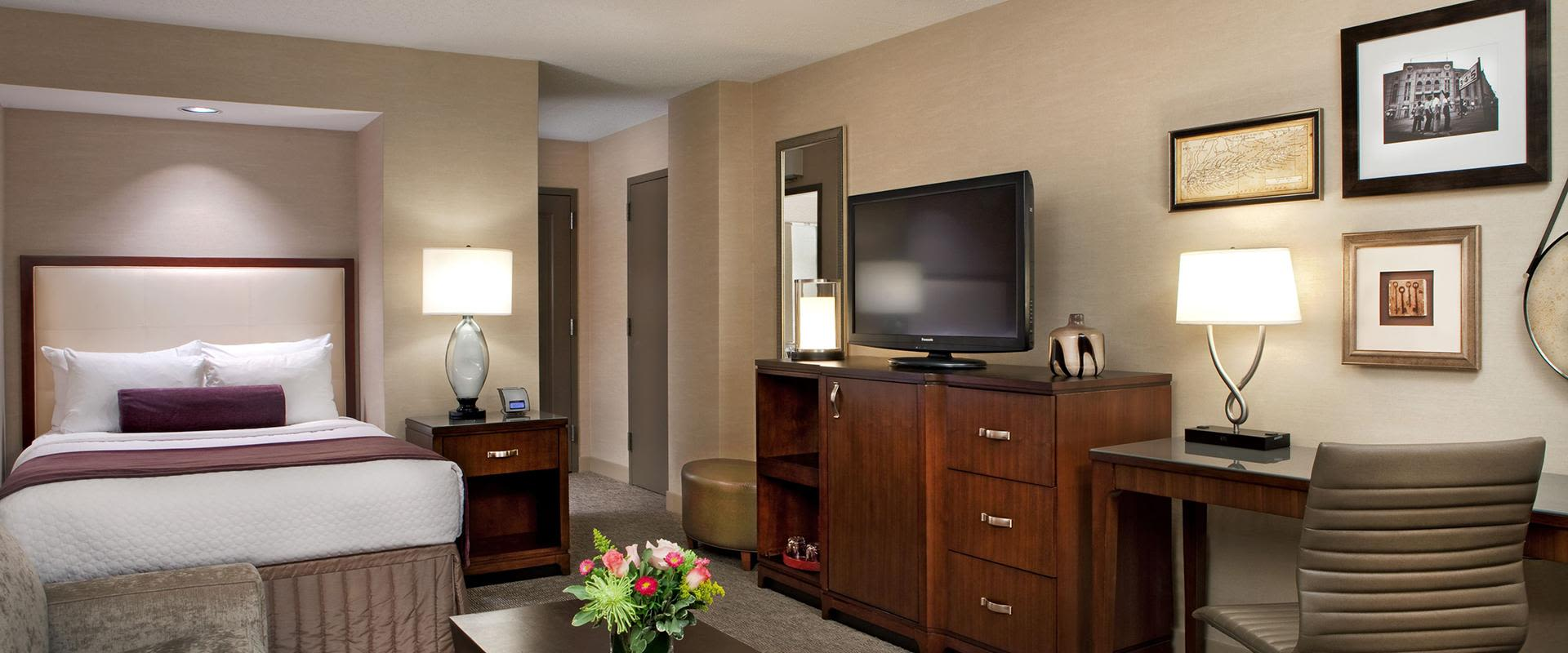 White Plains Hotel Room with TV