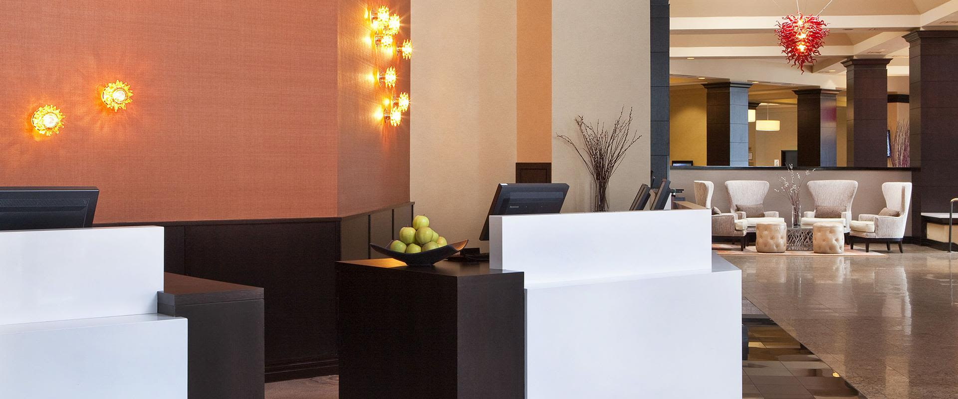 White Plains Hotel Lobby Reception Area