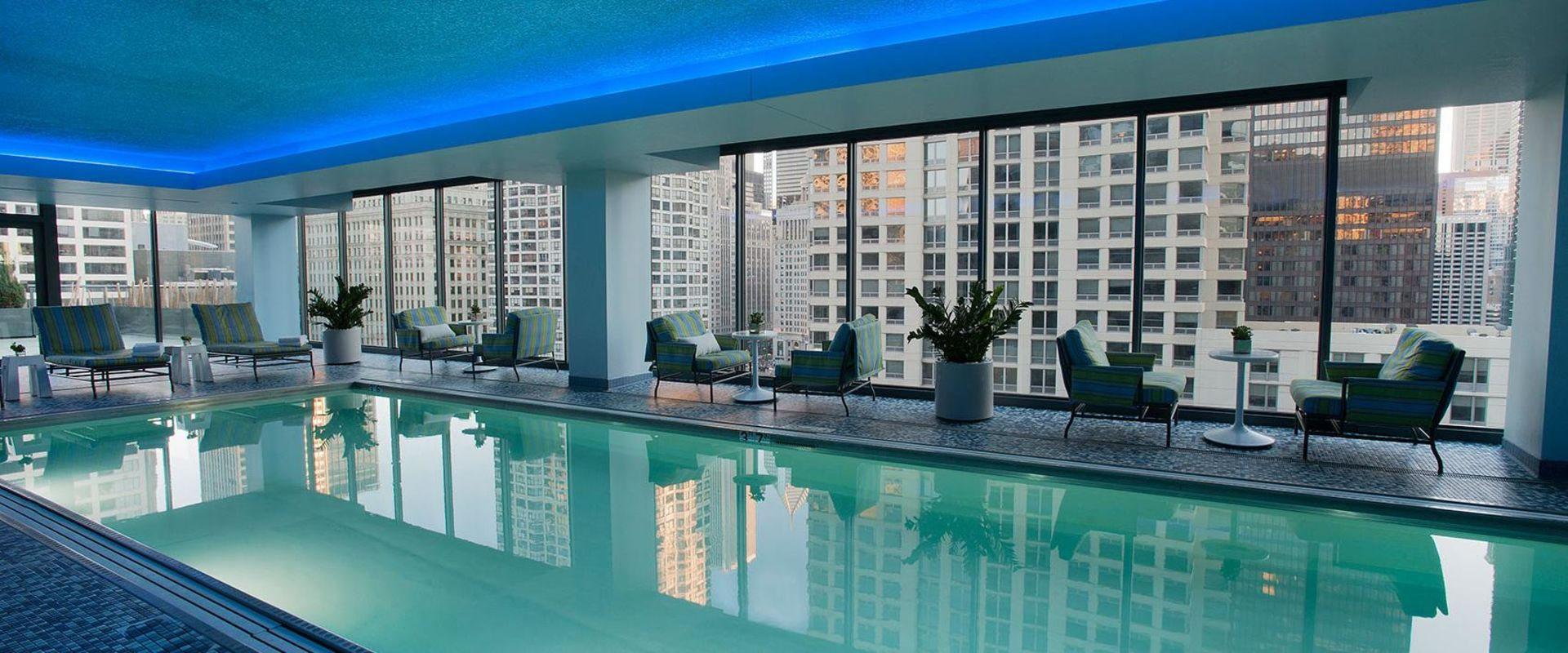 Chicago River North Indoor Pool Deck