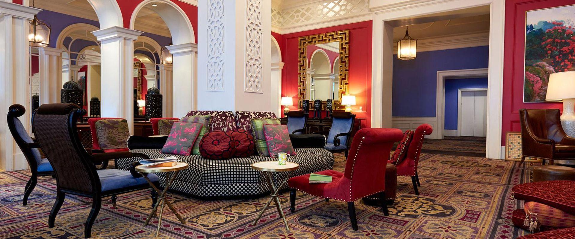 Downtown Portland Hotel Lobby Conversation Area