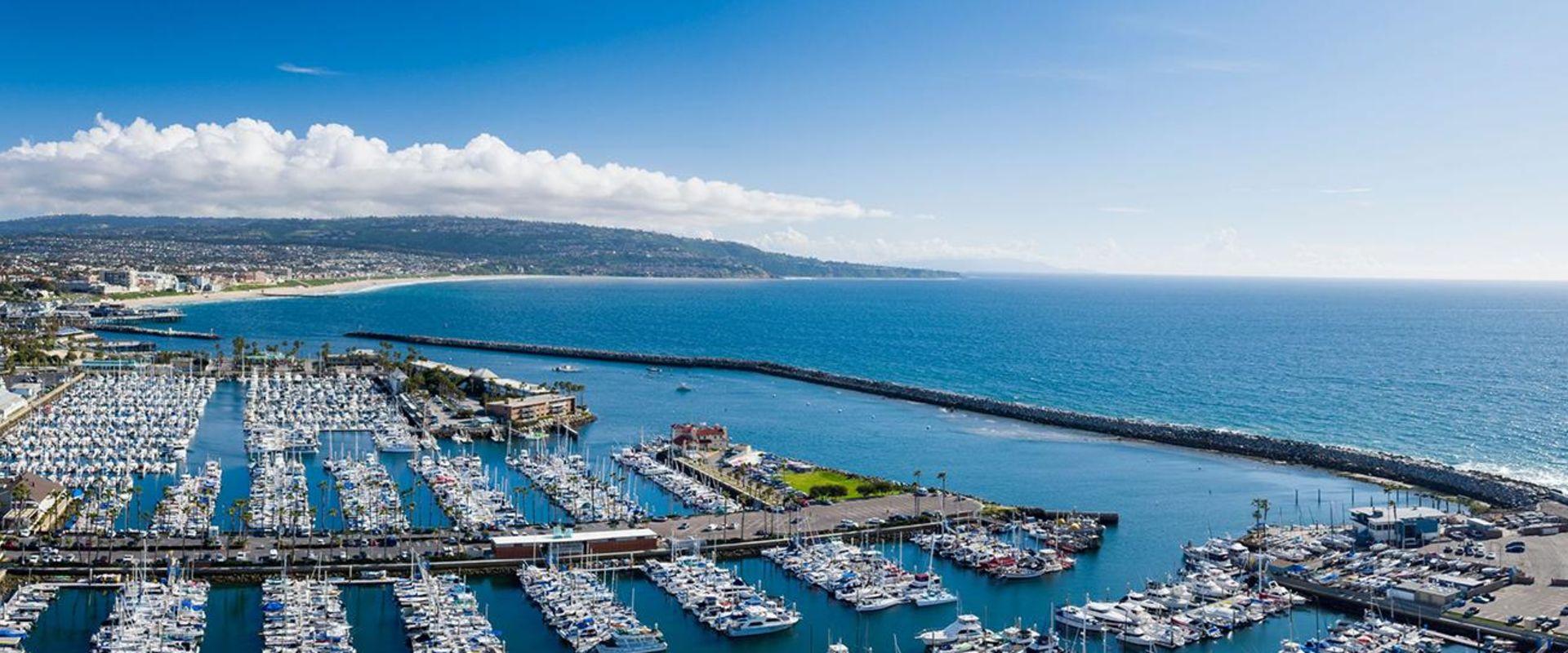 Redondo Beach King Harbor Marina And Pacific Ocean
