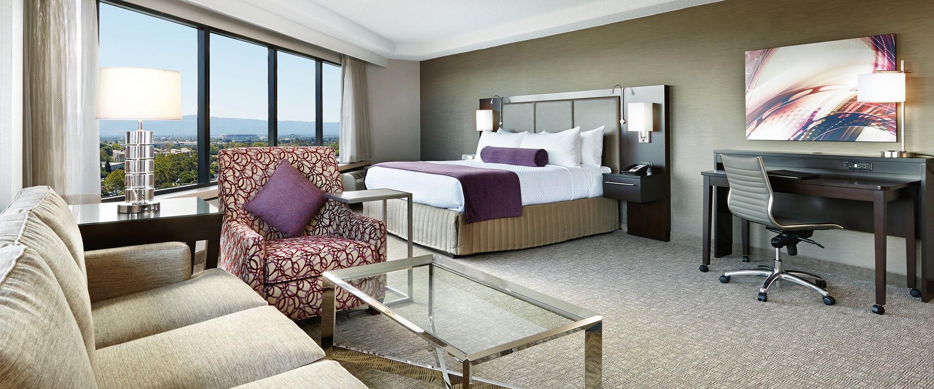 San Jose Hotel Suite Seating Area