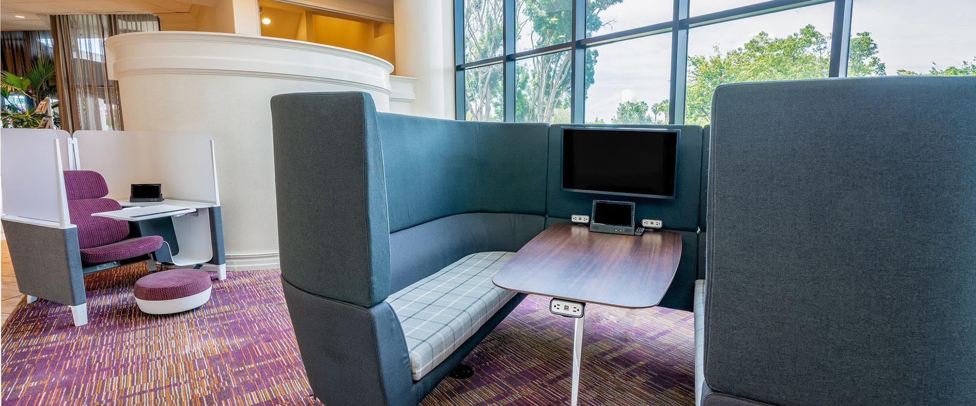 San Jose Hotel Lobby Workstations
