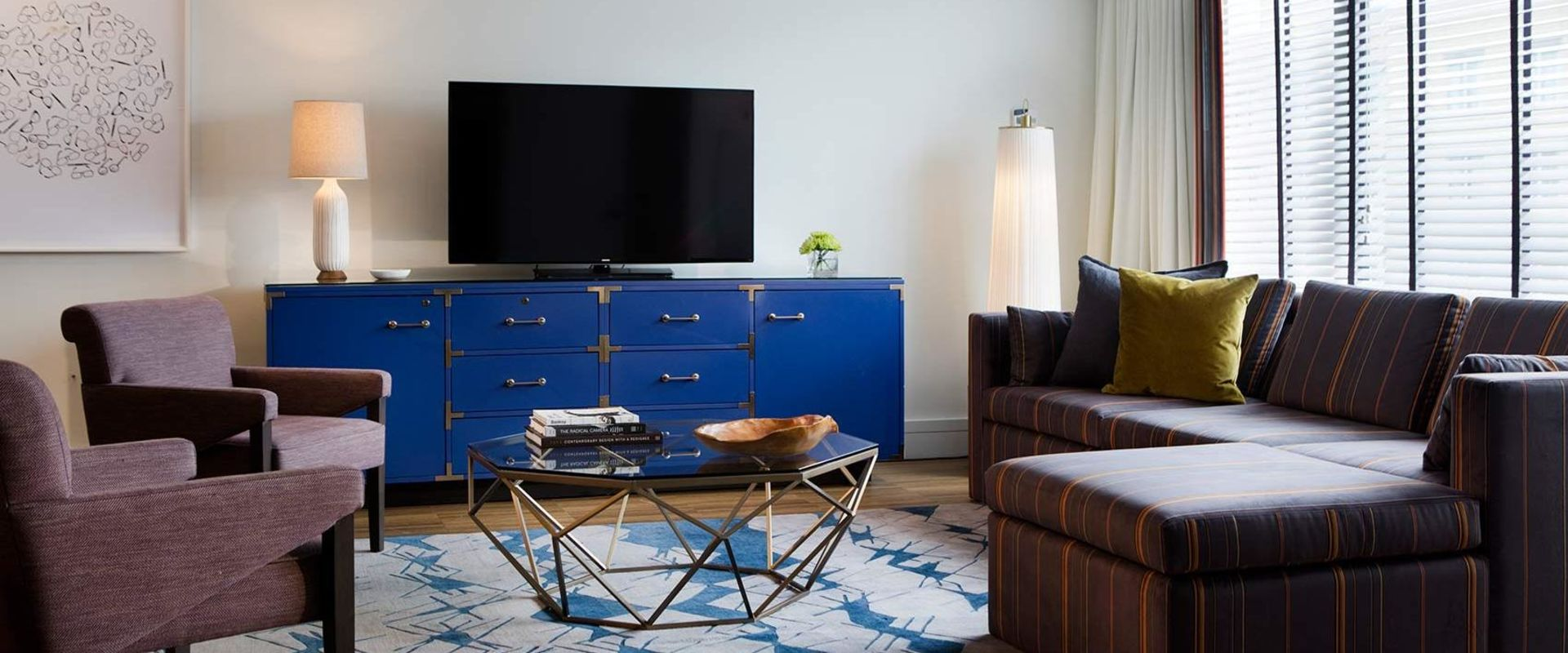 Dupont Circle Presidential Suite Seating and TV