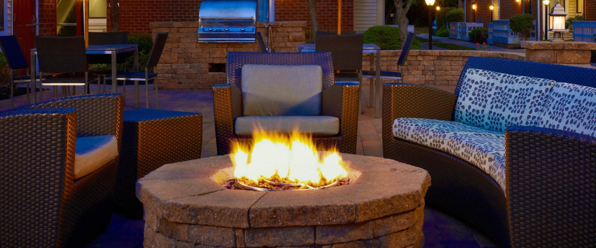 ES Suites - Patio Fireplace