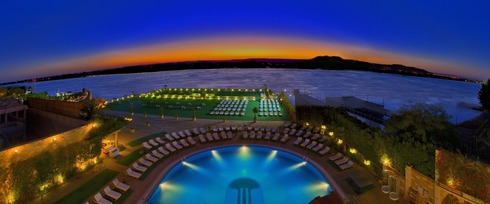 Exterior Pool at Sunset
