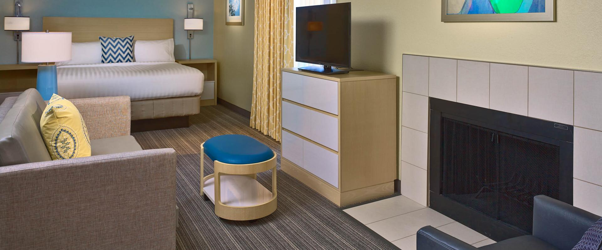Suite Bedroom Entertainment