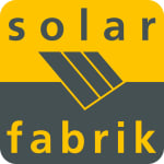Logo of the solar company Solar-Fabrik , all major brands such as Jinko, Trina, Canadian Solar, SMA, Fronius, Huawei and many more can be found on Solartraders