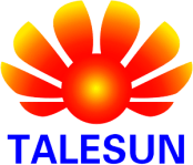 Logo of the solar company Talesun, all major brands such as Jinko, Trina, Canadian Solar, SMA, Fronius, Huawei and many more can be found on Solartraders