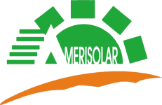 Logo of the solar company Amerisolar , all major brands such as Jinko, Trina, Canadian Solar, SMA, Fronius, Huawei and many more can be found on Solartraders