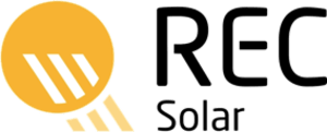 Logo of the solar company REC , all major brands such as Jinko, Trina, Canadian Solar, SMA, Fronius, Huawei and many more can be found on Solartraders