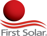Logo of the solar company First Solar , all major brands such as Jinko, Trina, Canadian Solar, SMA, Fronius, Huawei and many more can be found on Solartraders