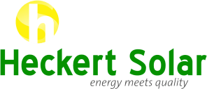 Logo of the solar company Heckert Solar, all major brands such as Jinko, Trina, Canadian Solar, SMA, Fronius, Huawei and many more can be found on Solartraders