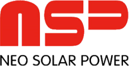 Logo of the solar company Neo Solar Power (NSP), all major brands such as Jinko, Trina, Canadian Solar, SMA, Fronius, Huawei and many more can be found on Solartraders